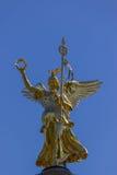 Golden Nike sculpture on Berlin's Siegessäule Stock Photos