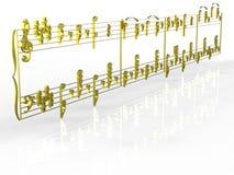 Golden note Stock Photo