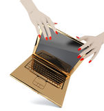 Golden notebook Stock Photo
