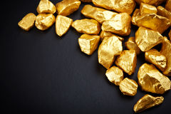 Golden nuggets Stock Images