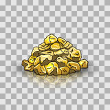 Golden nuggets pile Stock Images