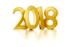 The golden number 2018 for new year holidays. 3d rendering of the golden number 2018 for new year holidays Royalty Free Stock Photo