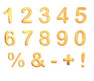 Golden Number Set Stock Photography