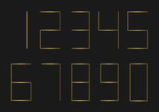Golden Number set Royalty Free Stock Photography