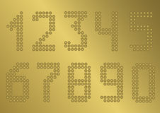 Golden Number set Royalty Free Stock Images