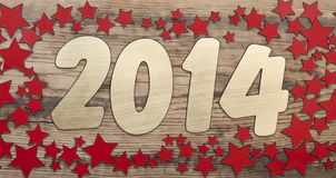Golden number 2014 Royalty Free Stock Photos