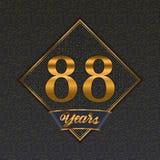Golden number 88 templates stock illustration