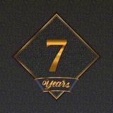 Golden number 7 templates royalty free illustration