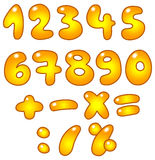 Golden numbers Stock Image