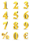 Golden numbers Royalty Free Stock Photo