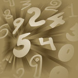 Golden numbers Stock Photo