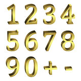 Golden numbers Stock Images