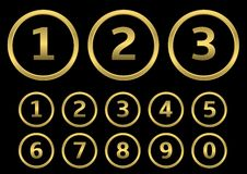 Golden numbers Royalty Free Stock Images