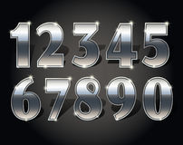 Golden numbers set Stock Photography