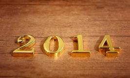 Golden numbers 2014 Royalty Free Stock Photo