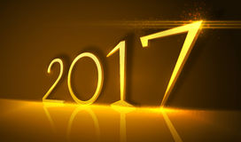 2017 golden numbers. Vector design. Royalty Free Stock Photos