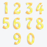 Golden numbers Royalty Free Stock Photography