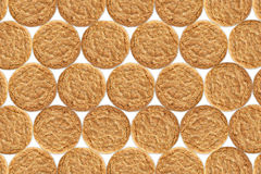 Golden oat biscuit pattern Stock Photography