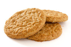 Golden oat biscuits Royalty Free Stock Photo
