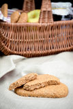 Golden oatmeal cookies Royalty Free Stock Image