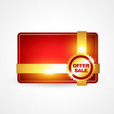 Golden offer sale Stock Photography