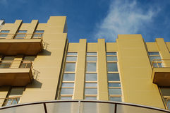 Golden office building. The image of golden office building Stock Images