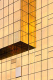Golden Office building glass wall Stock Images