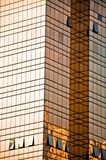 Golden Office building glass wall Royalty Free Stock Photography
