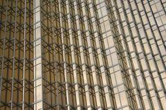 Golden office building windows background Stock Photos