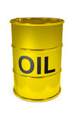 Golden oil barrel. Stock Images