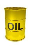 Golden oil barrel. Royalty Free Illustration