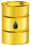 A golden oil barrel. Illustration of a golden oil barrel on a white background vector illustration