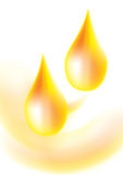 Golden Oil Drop background Stock Images