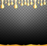 Golden oil drop isolated on black. Olive or fuel gold oil droplet concept. Liquid yellow sign. . royalty free illustration