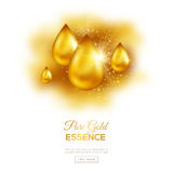 Golden Oil Drops Royalty Free Stock Photos