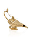 Golden oil lamp Royalty Free Stock Image