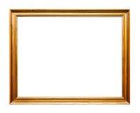 Golden Old Frame, Horizontal, Isolated on White Stock Image