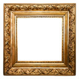 Golden Old Frame isolated. (clipping paths included Stock Photo