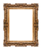 Golden old frame, isolated on white. Golden old frame isolated on white, No 26  (clipping paths included Stock Photography
