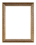 Golden Old Frame, vertical, Isolated on White Royalty Free Stock Photos