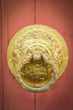 Golden old knocker, vintage style. Light Stock Image