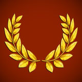 Golden olive wreath. Symbol of victory. Award winner. Stock vect Stock Photography