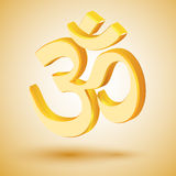 Golden om symbol - vector Royalty Free Stock Photo