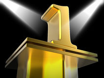 Golden One On Pedestal Shows First Prize Or. Golden One On Pedestal Showing First Prize Or Victory Stock Photography
