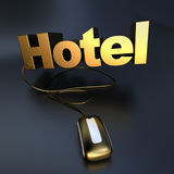 Golden Online Hotel Royalty Free Stock Photography