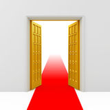 Golden opened doors Royalty Free Stock Photo