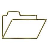 Golden opened folder silhouette Stock Photography