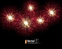 Golden orange amazing fireworks Royalty Free Stock Photo