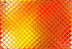 Golden and orange mosaic Stock Photography