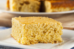 Golden Organic Homemade Cornbread Royalty Free Stock Photos
